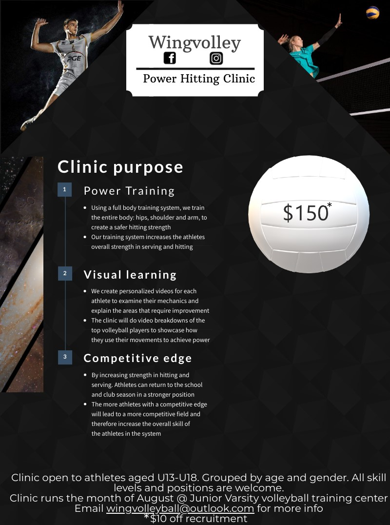 Wing Volleyball Power Hitting Clinic